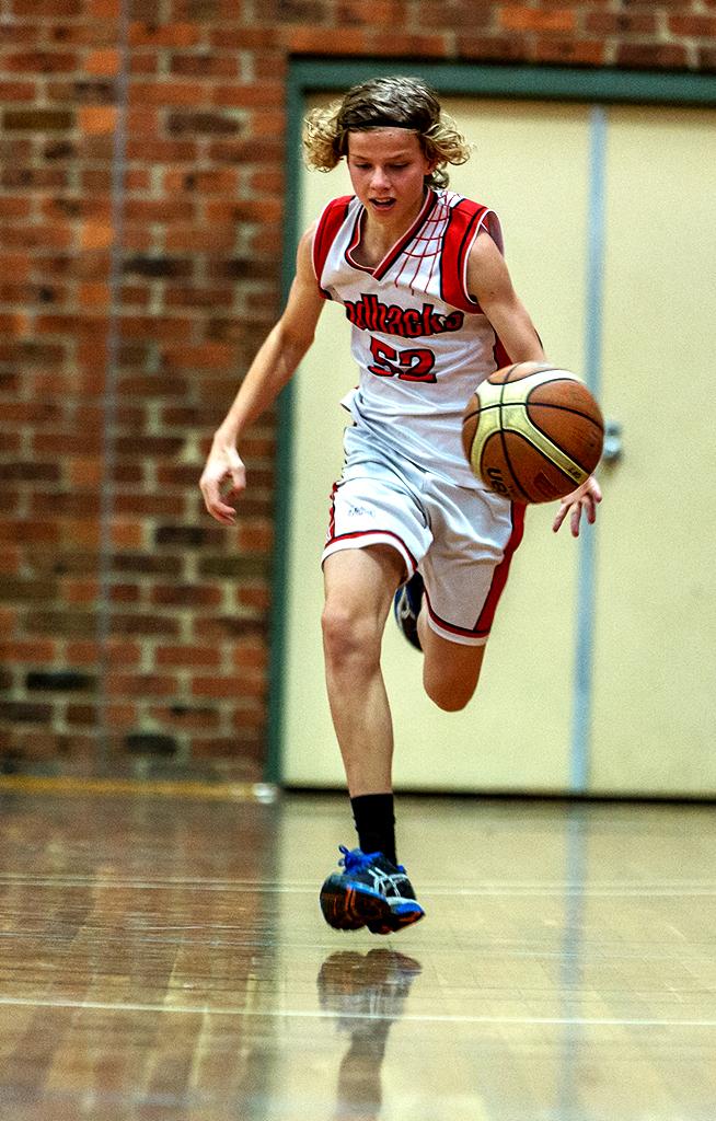 Warrandyte Redbacks team player in training