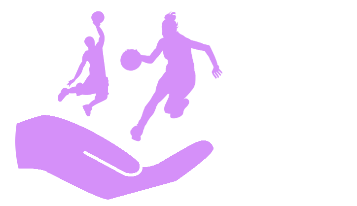 Values image - silhouette of basketball players in palm of hand